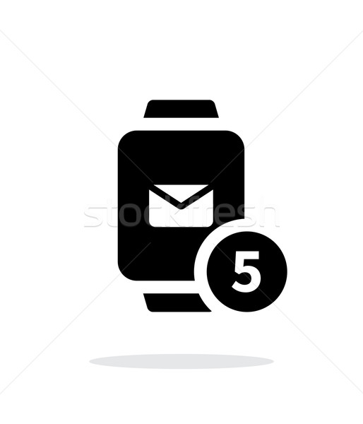 Mail notification on smart watches simple icon on white background. Stock photo © tkacchuk