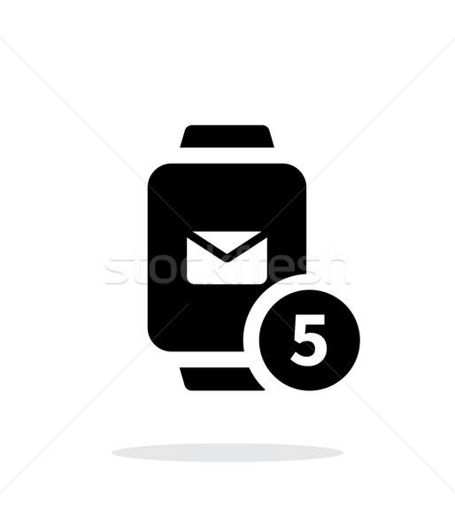 Mail Benachrichtigung smart einfache Symbol weiß Stock foto © tkacchuk