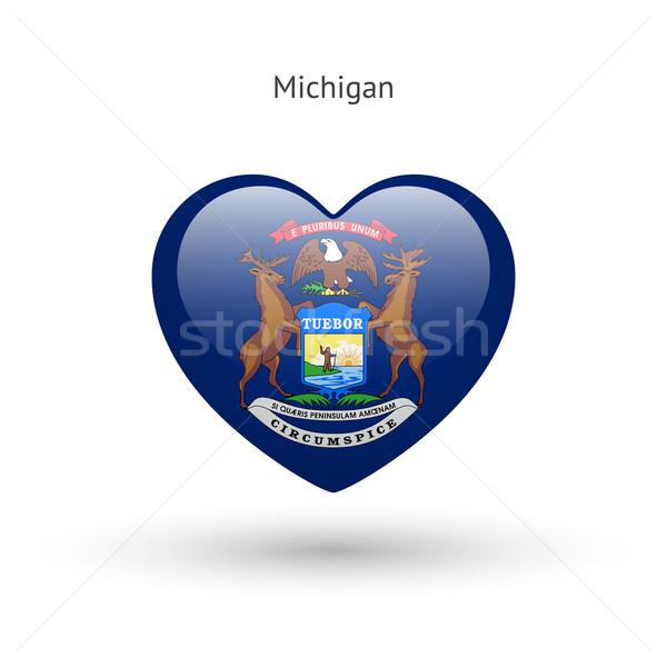 Amor Michigan símbolo corazón bandera icono Foto stock © tkacchuk