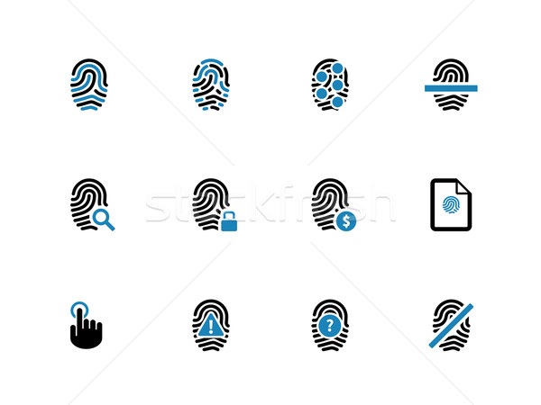 Security fingerprint duotone icons. Stock photo © tkacchuk