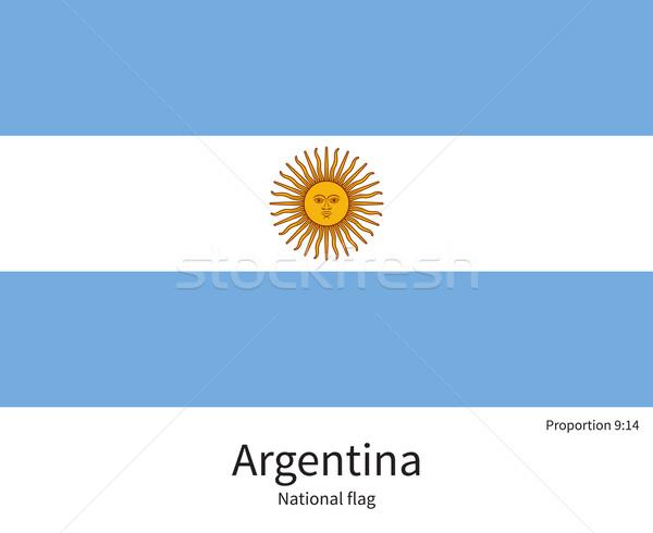 Flagge Argentinien korrigieren Element Farben Bildung Stock foto © tkacchuk