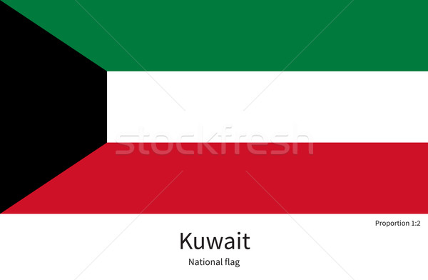 National flag of Kuwait with correct proportions, element, colors Stock photo © tkacchuk