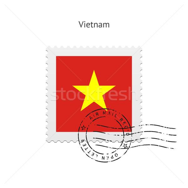 Vietnam Flag Postage Stamp. Stock photo © tkacchuk