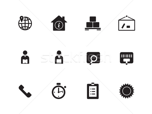 ストックフォト: 物流 · アイコン · 白 · 世界中 · デザイン · ボックス
