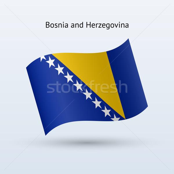 Bosnia Herzegovina bandera forma gris signo Foto stock © tkacchuk