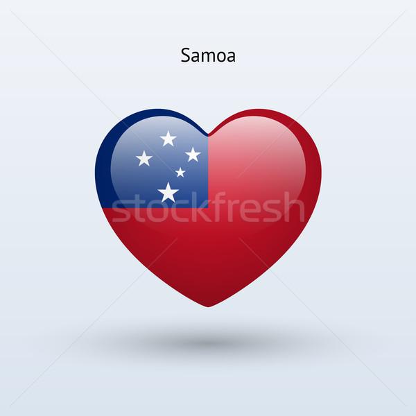 Liefde Samoa symbool hart vlag icon Stockfoto © tkacchuk