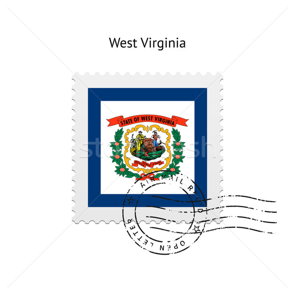 State of West Virginia flag postage stamp. Stock photo © tkacchuk