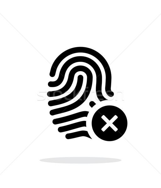 Fingerprint rejected icon on white background. Stock photo © tkacchuk