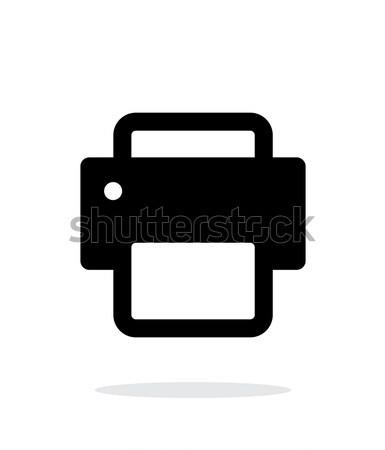 Printer icon on white background. Stock photo © tkacchuk