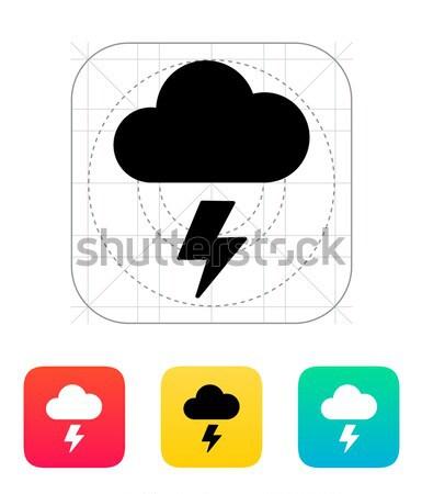 Lightning weather icon on white background. Stock photo © tkacchuk