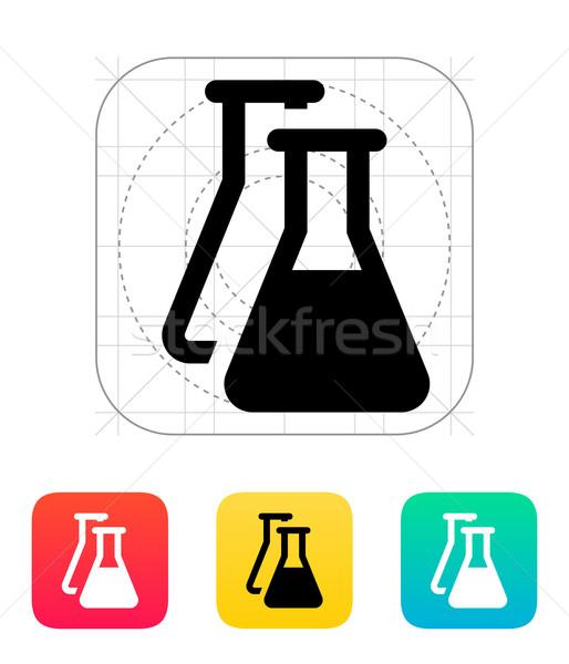 Flasks icon. Vector illustration. Stock photo © tkacchuk