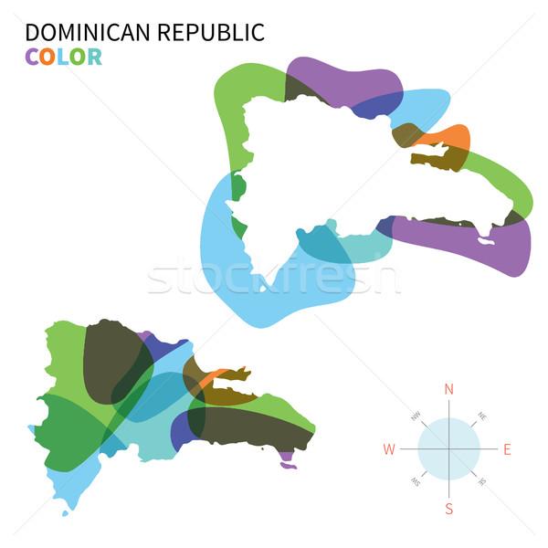 Stock fotó: Absztrakt · vektor · szín · térkép · Dominikai · Köztársaság · átlátszó