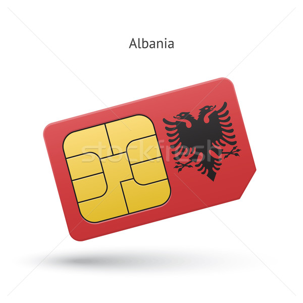 Albania teléfono móvil tarjeta bandera negocios diseno Foto stock © tkacchuk