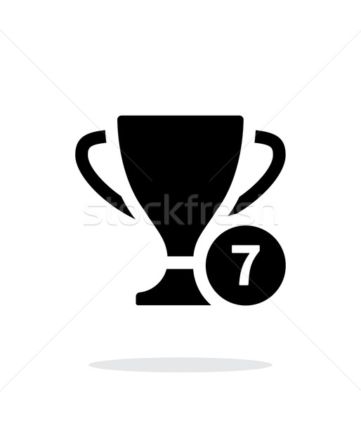 Number of cups icon on white background. Stock photo © tkacchuk