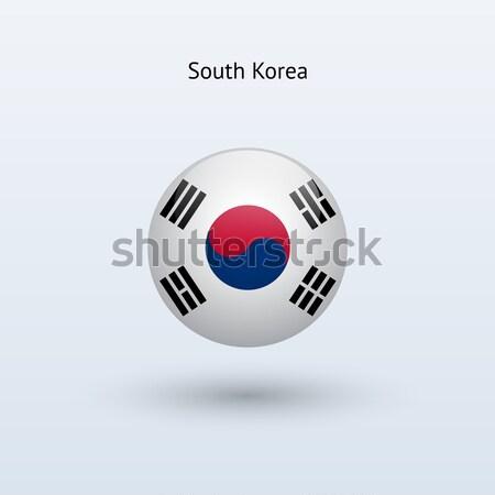South Korea round flag. Vector illustration. Stock photo © tkacchuk