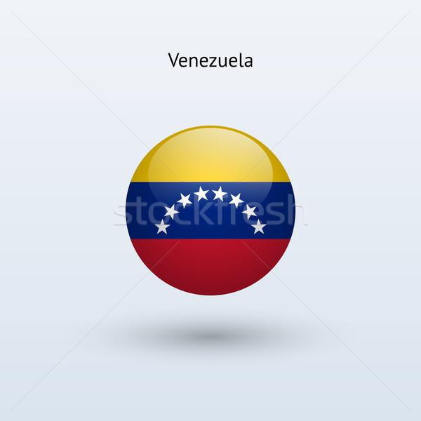 Venezuela round flag. Vector illustration. Stock photo © tkacchuk