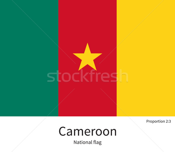 National flag of Cameroon with correct proportions, element, colors Stock photo © tkacchuk