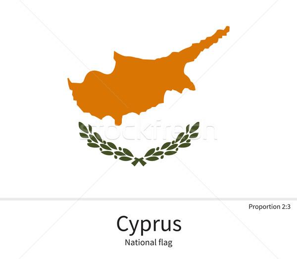 Bandiera Cipro correggere elemento colori istruzione Foto d'archivio © tkacchuk