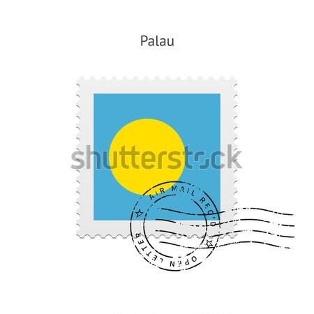Japan Flag Postage Stamp. Stock photo © tkacchuk