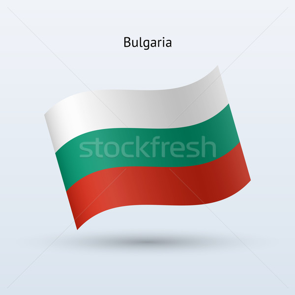 Болгария флаг форме серый знак Сток-фото © tkacchuk