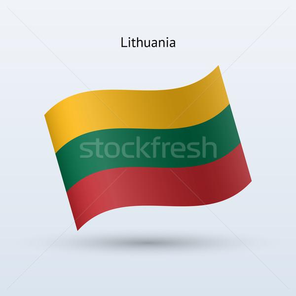 Litouwen vlag vorm grijs teken Stockfoto © tkacchuk