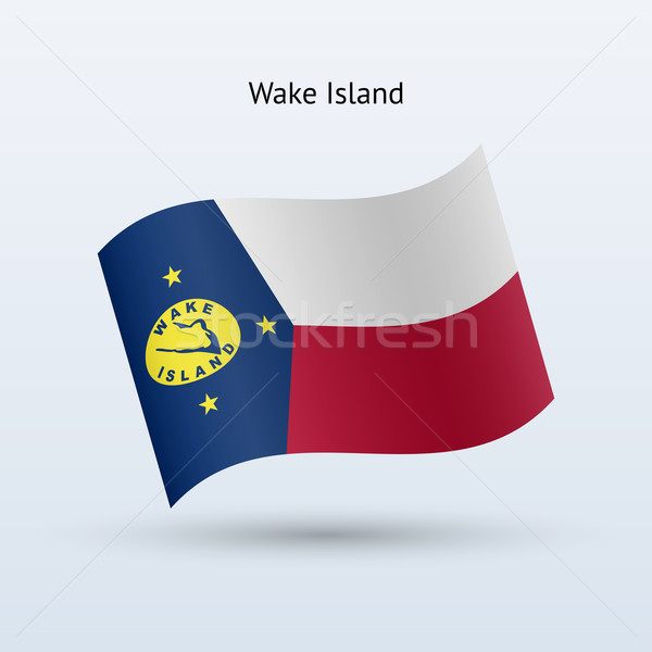 Wake Island flag waving form. Vector illustration. Stock photo © tkacchuk