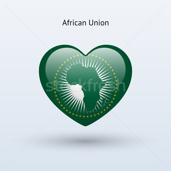 Amour africaine Union symbole coeur pavillon Photo stock © tkacchuk