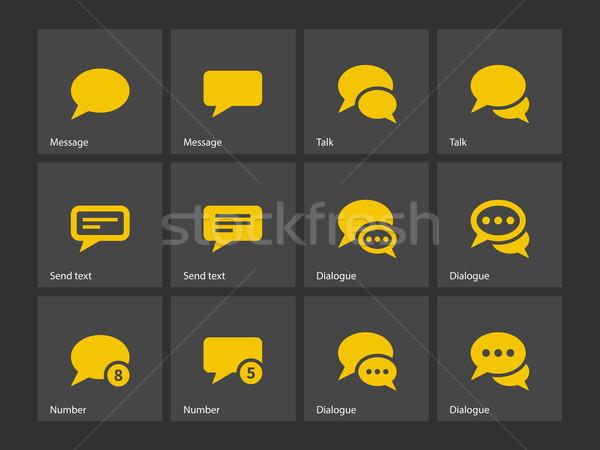 Message bubble icons. Stock photo © tkacchuk