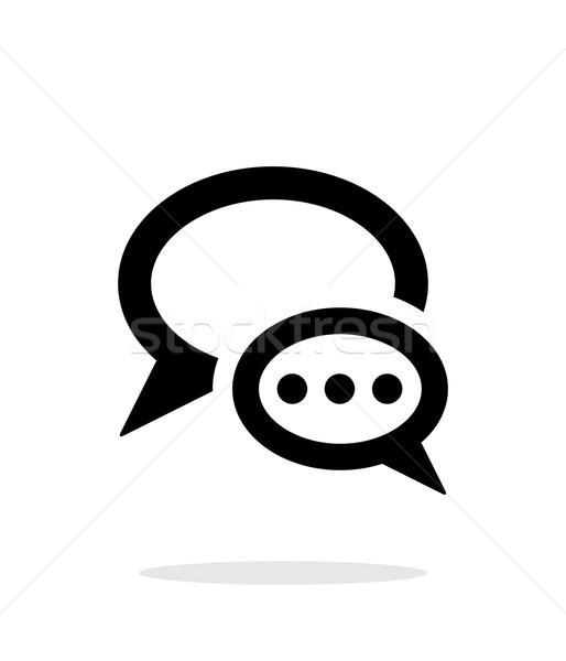 対話 バブル アイコン 白 単純な ボックス ストックフォト © tkacchuk