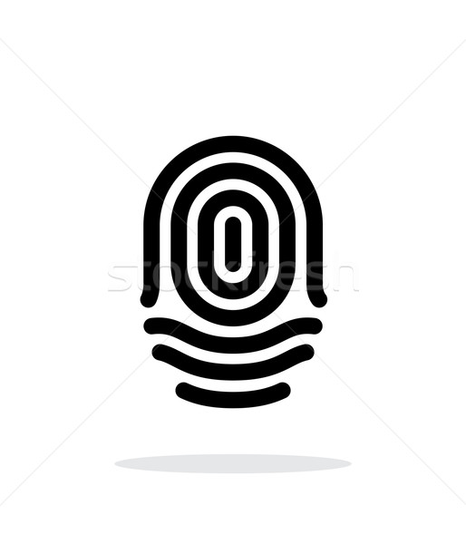 Fingerprint whorl type icon on white background. Stock photo © tkacchuk
