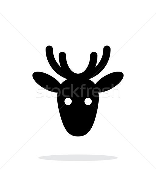 Christmas deer icon on white background. Stock photo © tkacchuk