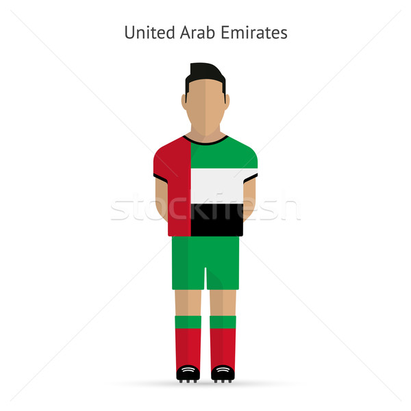United Arab Emirates football player. Soccer uniform. Stock photo © tkacchuk