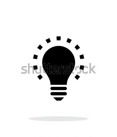 Less light icon on white background. Stock photo © tkacchuk