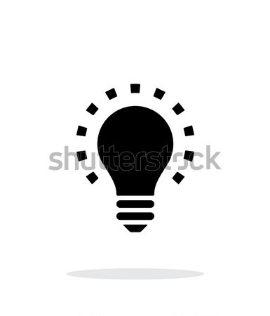 Daha az ışık ikon beyaz basit lamba Stok fotoğraf © tkacchuk