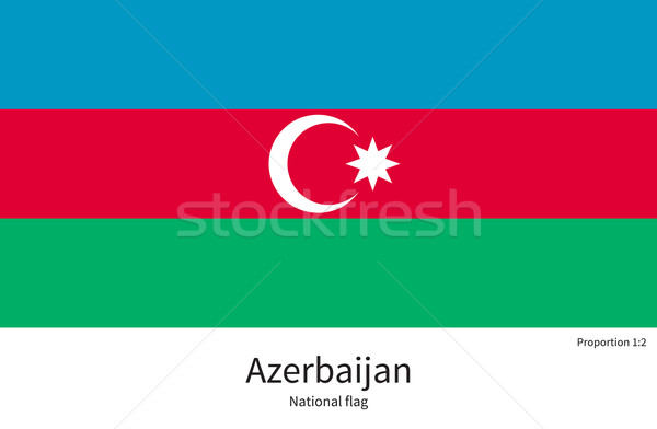 National flag of Azerbaijan with correct proportions, element, colors Stock photo © tkacchuk
