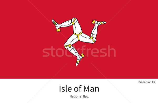 National flag Isle of Man with correct proportions, element, colors Stock photo © tkacchuk