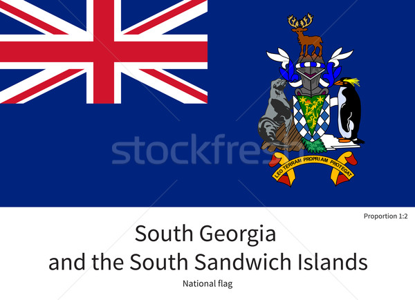 National flag of South Georgia and Sandwich Islands with correct proportions, element, colors Stock photo © tkacchuk