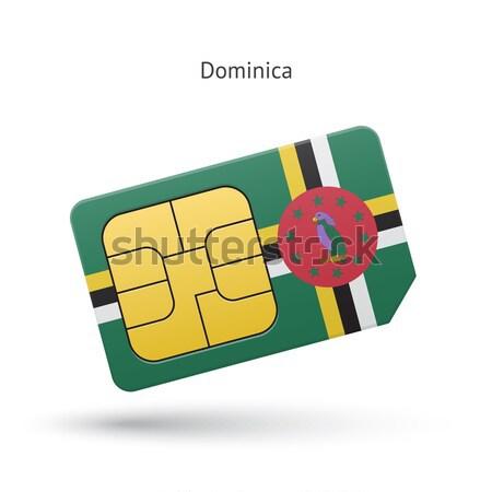 Creditcard Dominica vlag bank presentaties business Stockfoto © tkacchuk