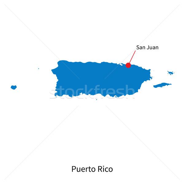 Vector kaart Puerto Rico stad san juan gedetailleerd Stockfoto © tkacchuk