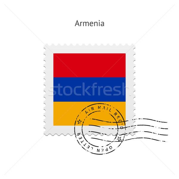 Armenia Flag Postage Stamp. Stock photo © tkacchuk