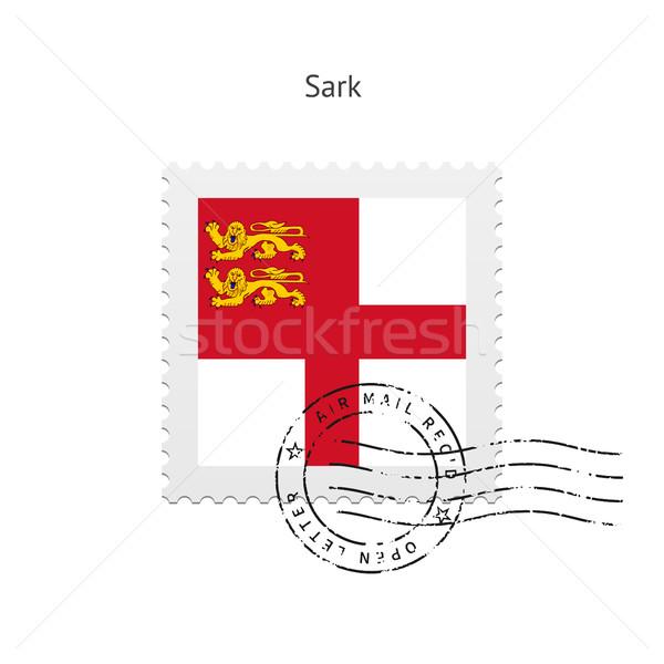 Sark Flag Postage Stamp. Stock photo © tkacchuk