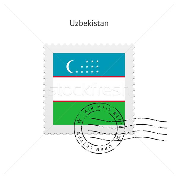 Uzbekistan Flag Postage Stamp. Stock photo © tkacchuk