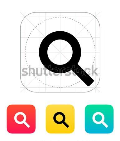 Magnifier crosshair icon. Stock photo © tkacchuk