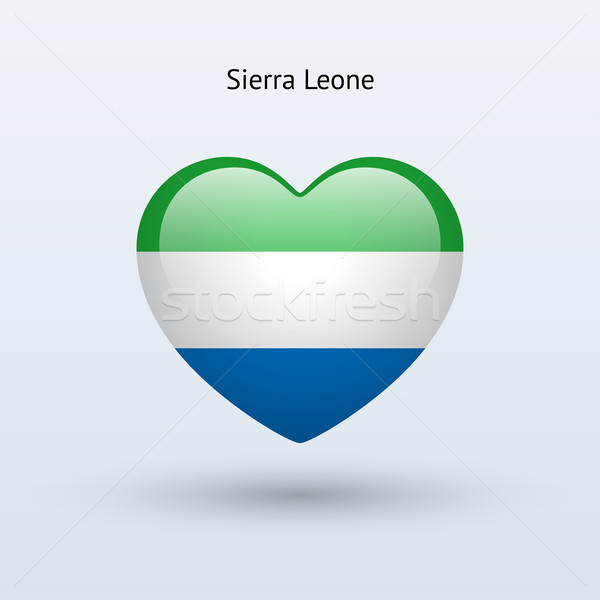 Love Sierra Leone symbol. Heart flag icon. Stock photo © tkacchuk