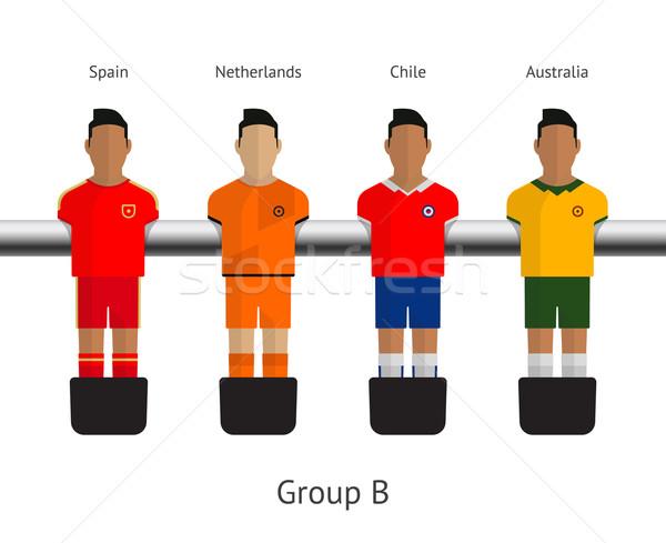 Tabela futebol futebol jogadores grupo Espanha Foto stock © tkacchuk