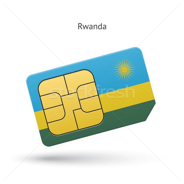Руанда мобильного телефона карт флаг бизнеса дизайна Сток-фото © tkacchuk