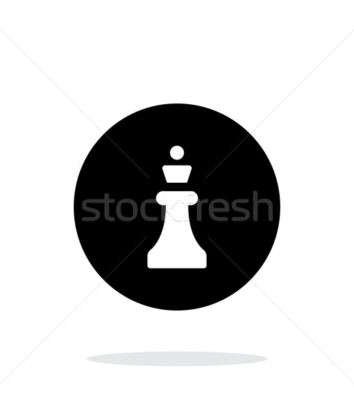 Chess Queen simple icon on white background. Stock photo © tkacchuk
