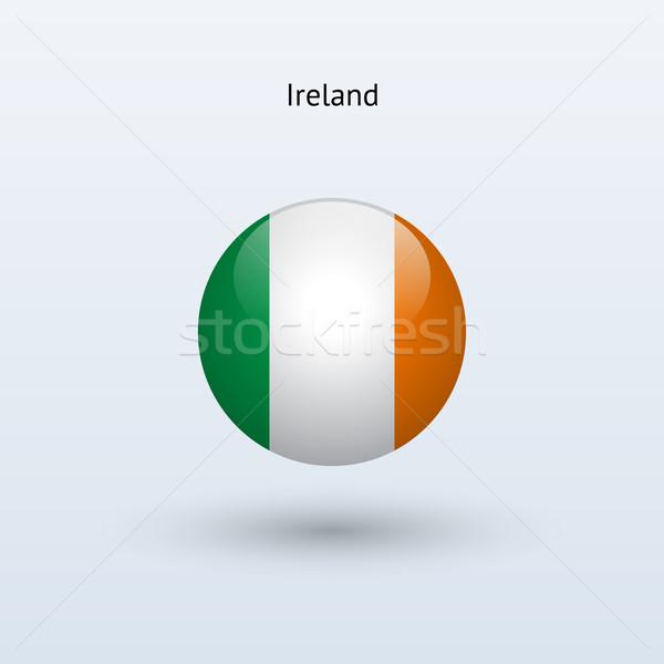 Ierland vlag grijs teken web reizen Stockfoto © tkacchuk