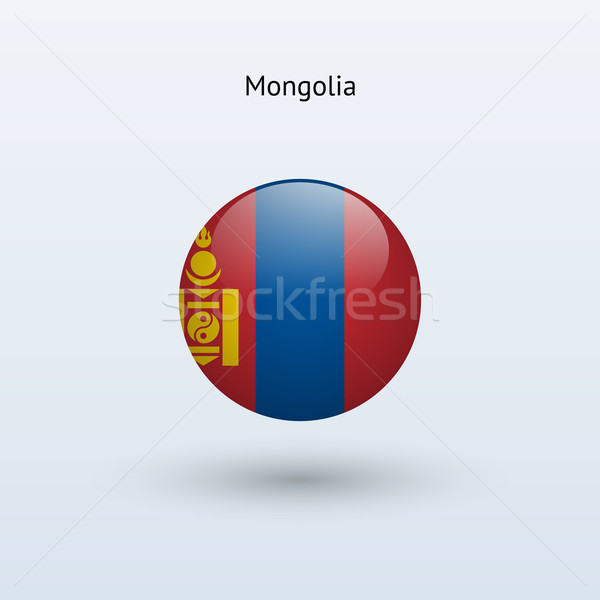 Mongólia zászló szürke felirat háló utazás Stock fotó © tkacchuk