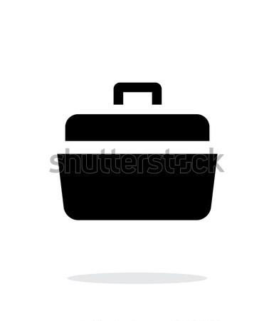 Open case simple icon on white background. Stock photo © tkacchuk